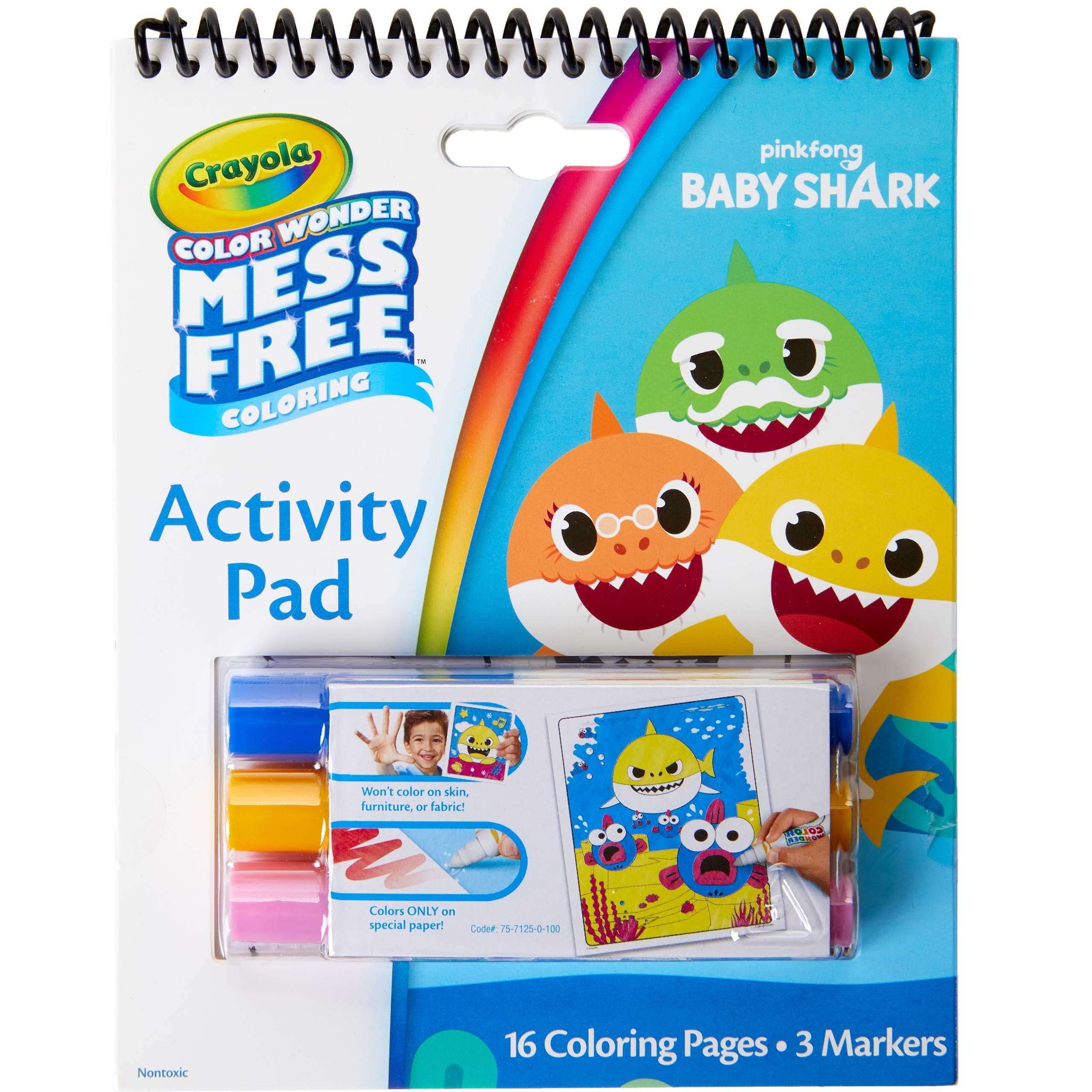 Crayola Color Wonder Baby Shark Act Pad