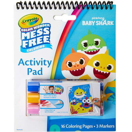 Crayola Color Wonder Baby Shark Act Pad