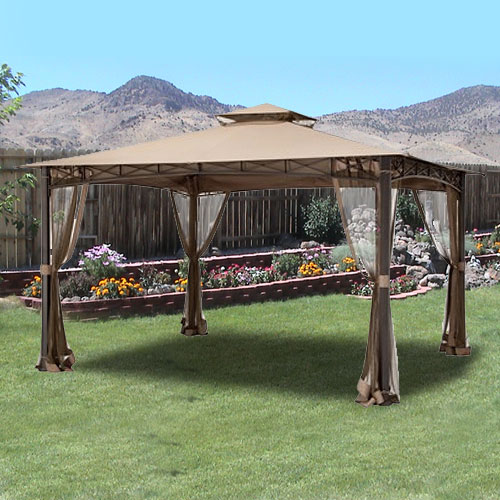Garden Winds Replacement Canopy Top for The San Rafael Gazebo and Edinborough Gazebo, Riplock 350 by