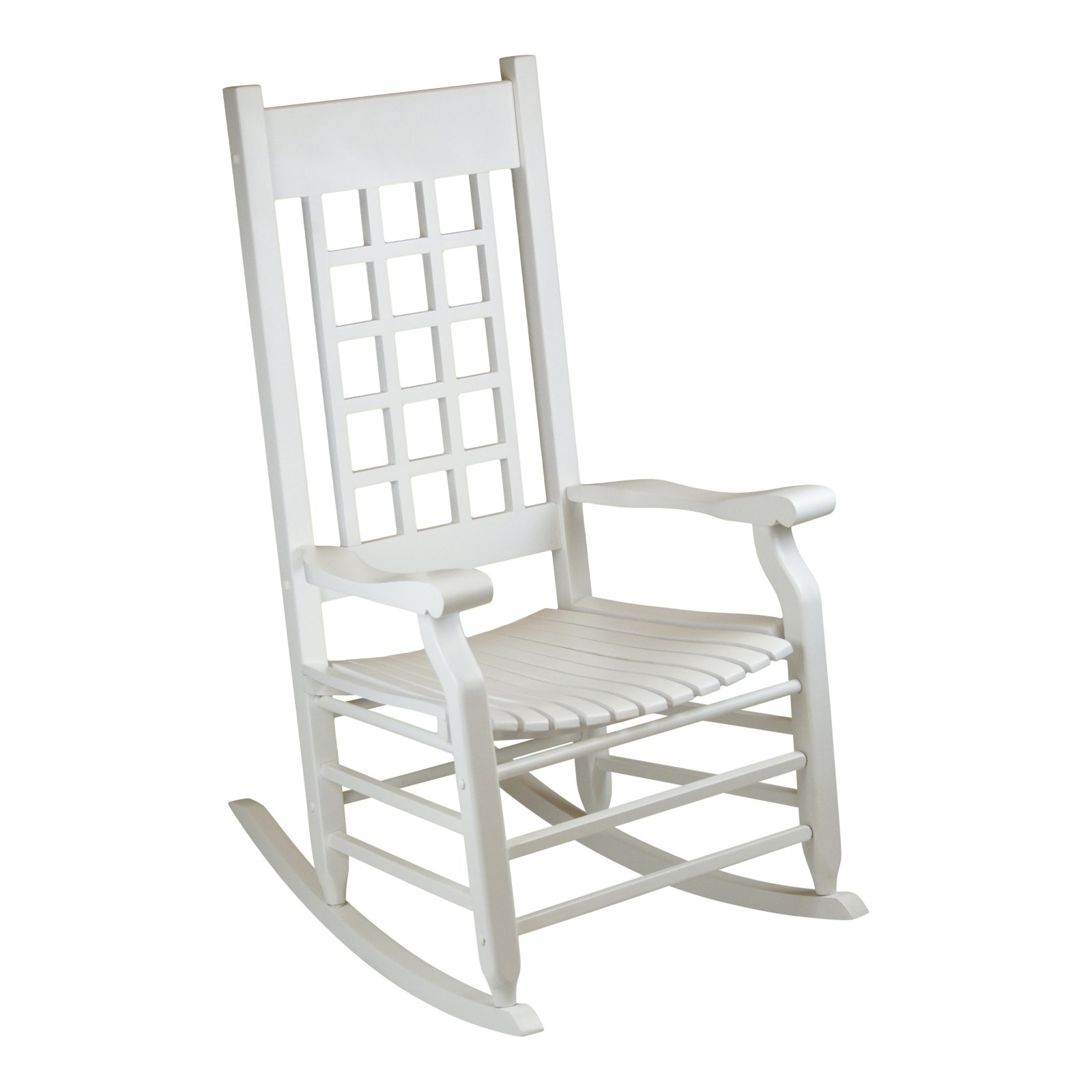 Hinkle Brookfield 1900 Lattice Back Wood Patio Rocking Chair