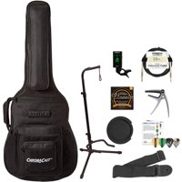 ChromaCast Acoustic Guitar Padded Guitar Case, Stand, Tuner, Cable, Strap, Capo, Sound Hole Mute, Strings & Picks