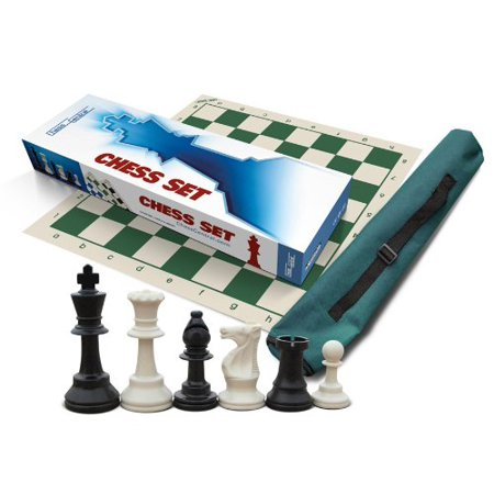 School Club And Tournament Chess Set 34 Whiteblack Chess Pieces