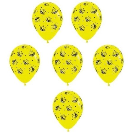 12 Bumble Bee Printed 11 Latex Balloons Yellow Black Party Inflate Up