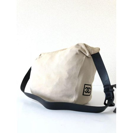 d603080f1392 Messenger Cc Logo Sports 231155 Beige Canvas Cross Body Bag - Walmart.com