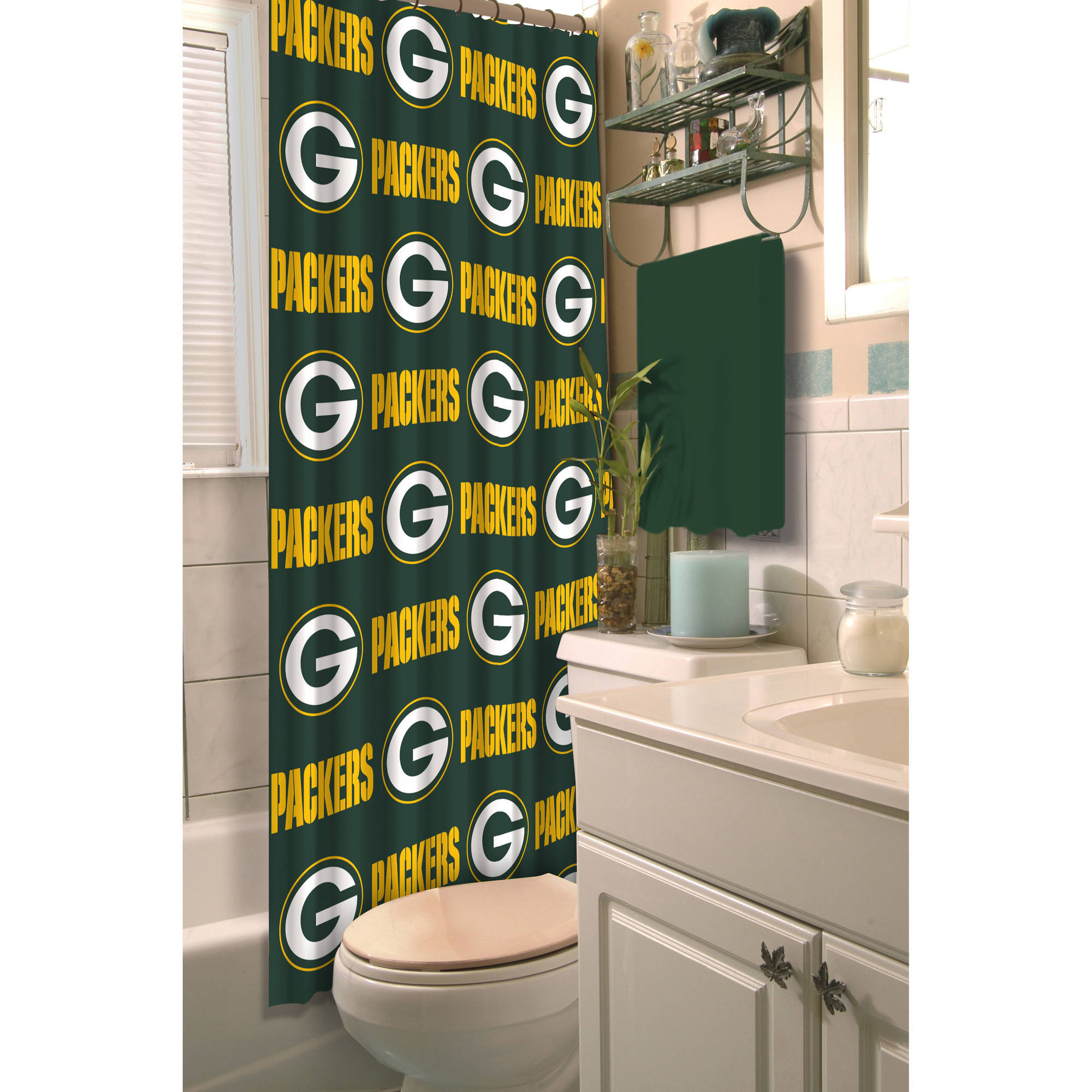 NFL Green Bay Packers Shower Curtain, 1 Each