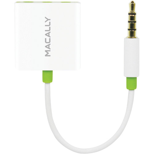 Macally 3-Way Headphone Splitter Designed for Any Audio Player with 3.5mm Headphone Jack - White