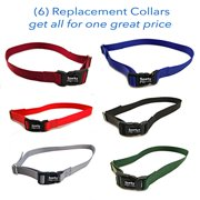 """3/4"""" SOLID Boy Dog Colors Receiver Replacement Straps- Set of 6 Wireless Straps PetSafe Stay & Play, YardMax, Mapping Systems"""