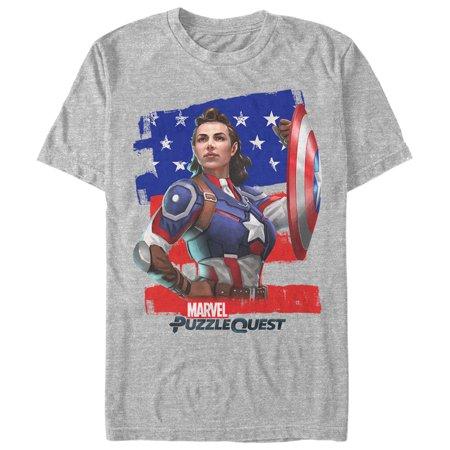 Marvel Men's Puzzle Quest Peggy Carter T-Shirt](Carter Halloween Shirts)