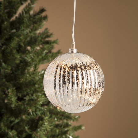 Light Up Indoor/Outdoor Mercury Glass Ball Large Giant Christmas Tree Ornament - Walmart.com