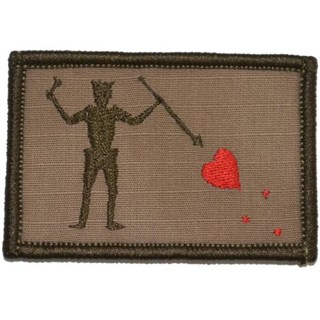 Patch The Pirate Club - Edward Teach Blackbeard Pirate Flag  - 2x3 Patch