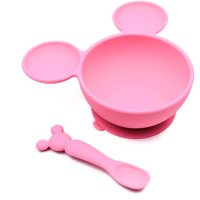 Bumkins Disney Baby Silicone Suction Bowl and Spoon - Minnie Mouse
