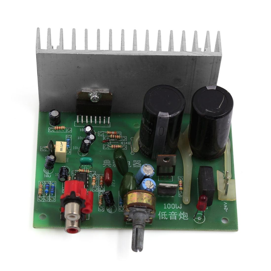 Unique Bargains 18V-26V 100W LFE Subwoofer Audio Stereo Power Amplifier Board for Motorcycle