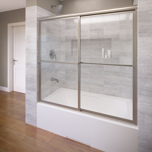 Basco Deluxe 59'' x 58.5'' Bypass Framed Shower Tub Door