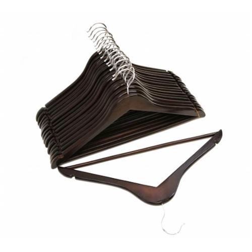 Florida Brands FB-FB2185 Mahogany Wood Suit Hangers - Pack of 96