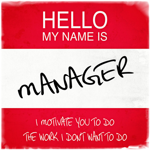 Graffitee Studios Hello My Name Is Manager Textual Art on Wrapped Canvas