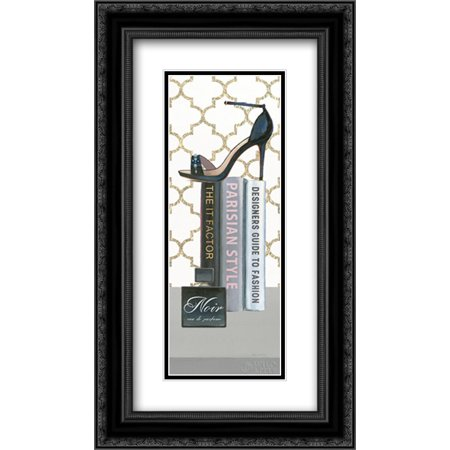 Forever Framed Panel Print (Forever Fashion VI Panel 2x Matted 14x24 Black Ornate Framed Art Print by Fabiano, Marco)