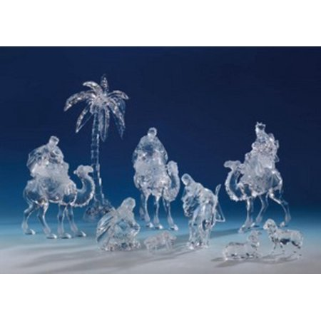 Walmart Seller Central >> 9 Piece Icy Crystal Religious Christmas Nativity Set - Walmart.com