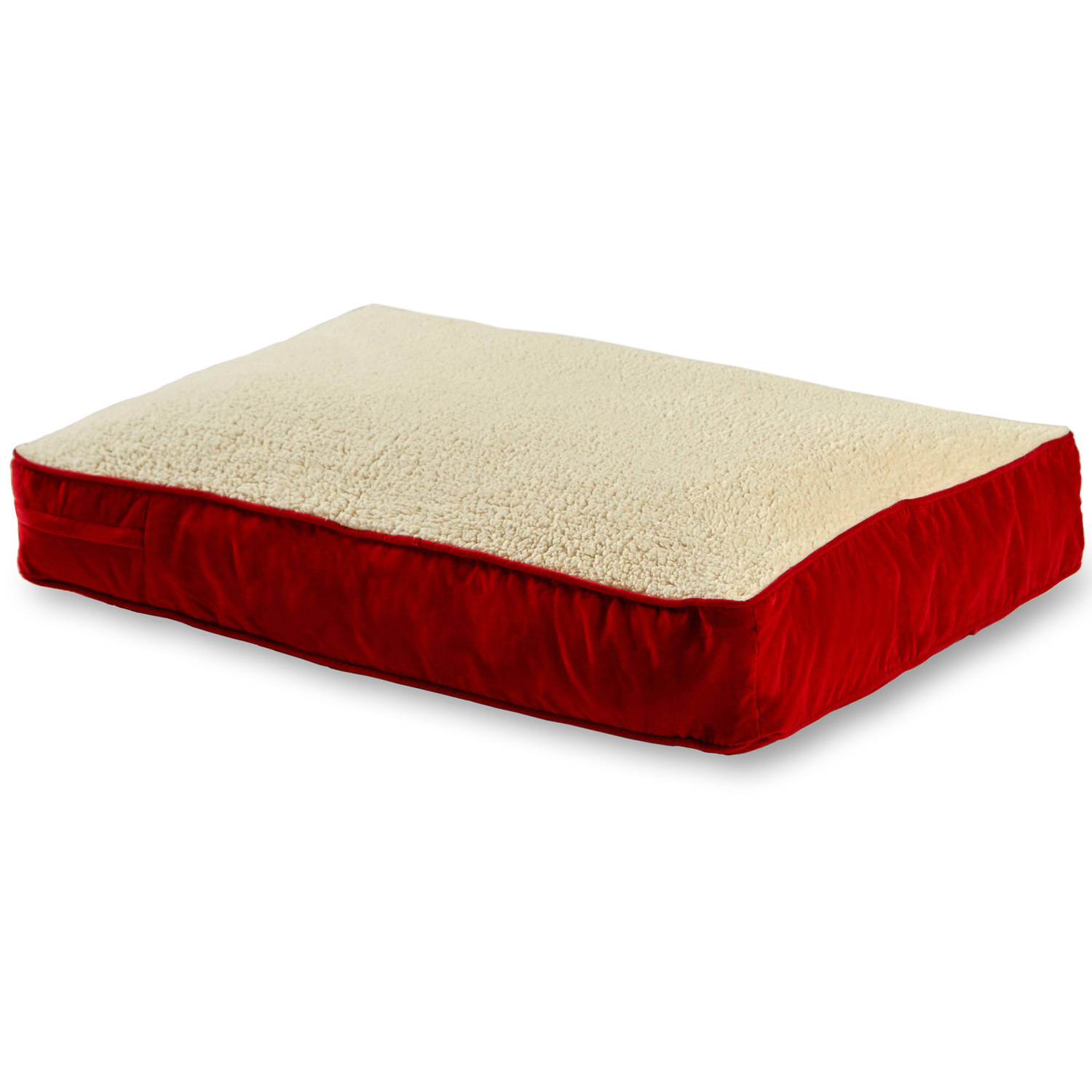 "Happy Hounds Buster Dog Bed, Large, 36"" x 48"", Crimson/Sh..."