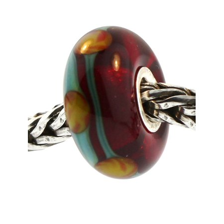Authentic Trollbeads Glass 61163 Red China (Chinese Glasses Online)