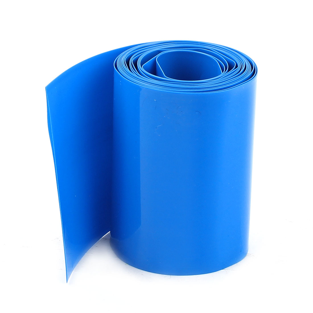 5Meters 56mm Width PVC Heat Shrink Wrap Tube Blue for AAA Battery Pack