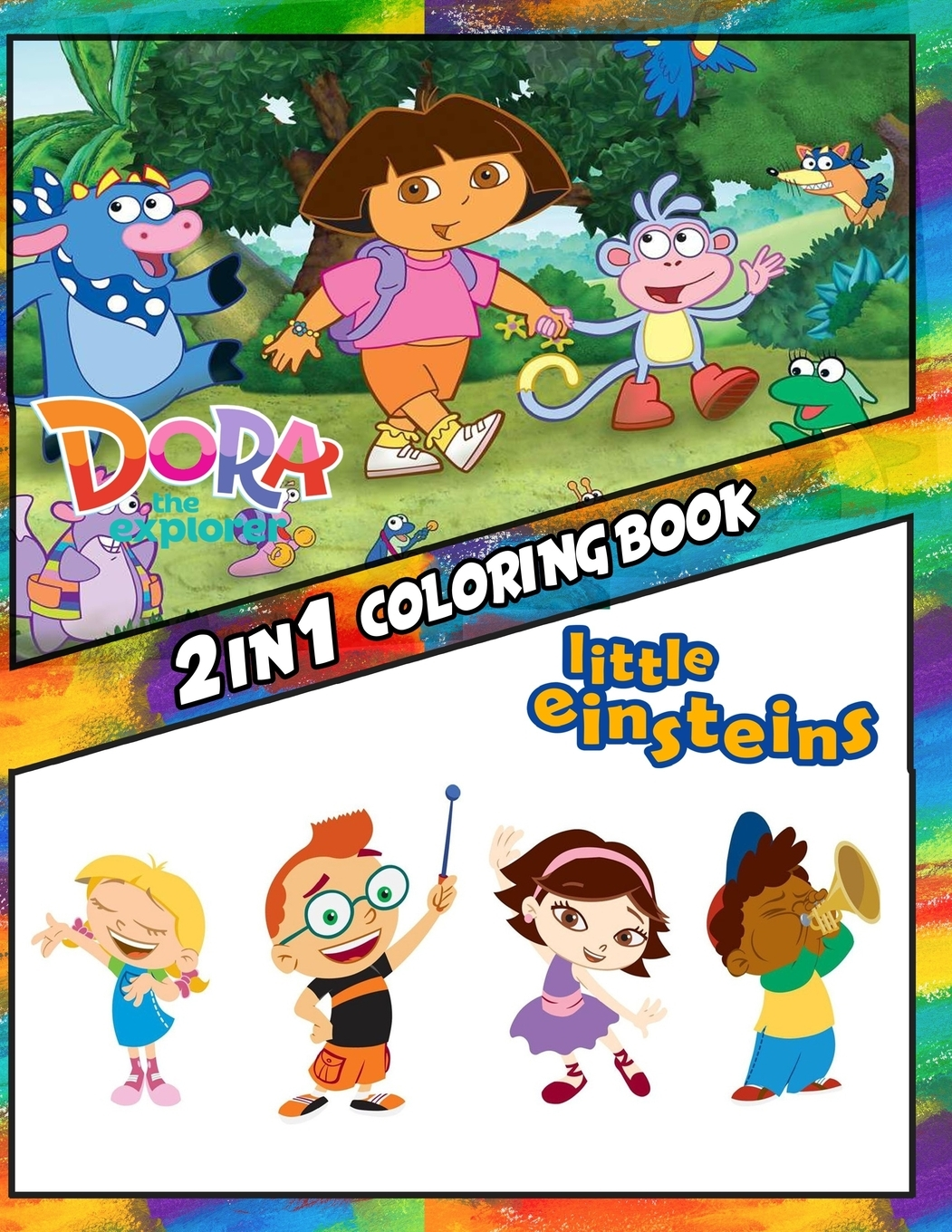 - 2 In 1 Coloring Books For Children, Kids 4-12 And Adults: 2 In 1