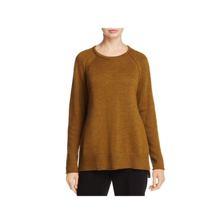 Eileen Fisher Womens Merino Wool Long Sleeves Pullover Sweater