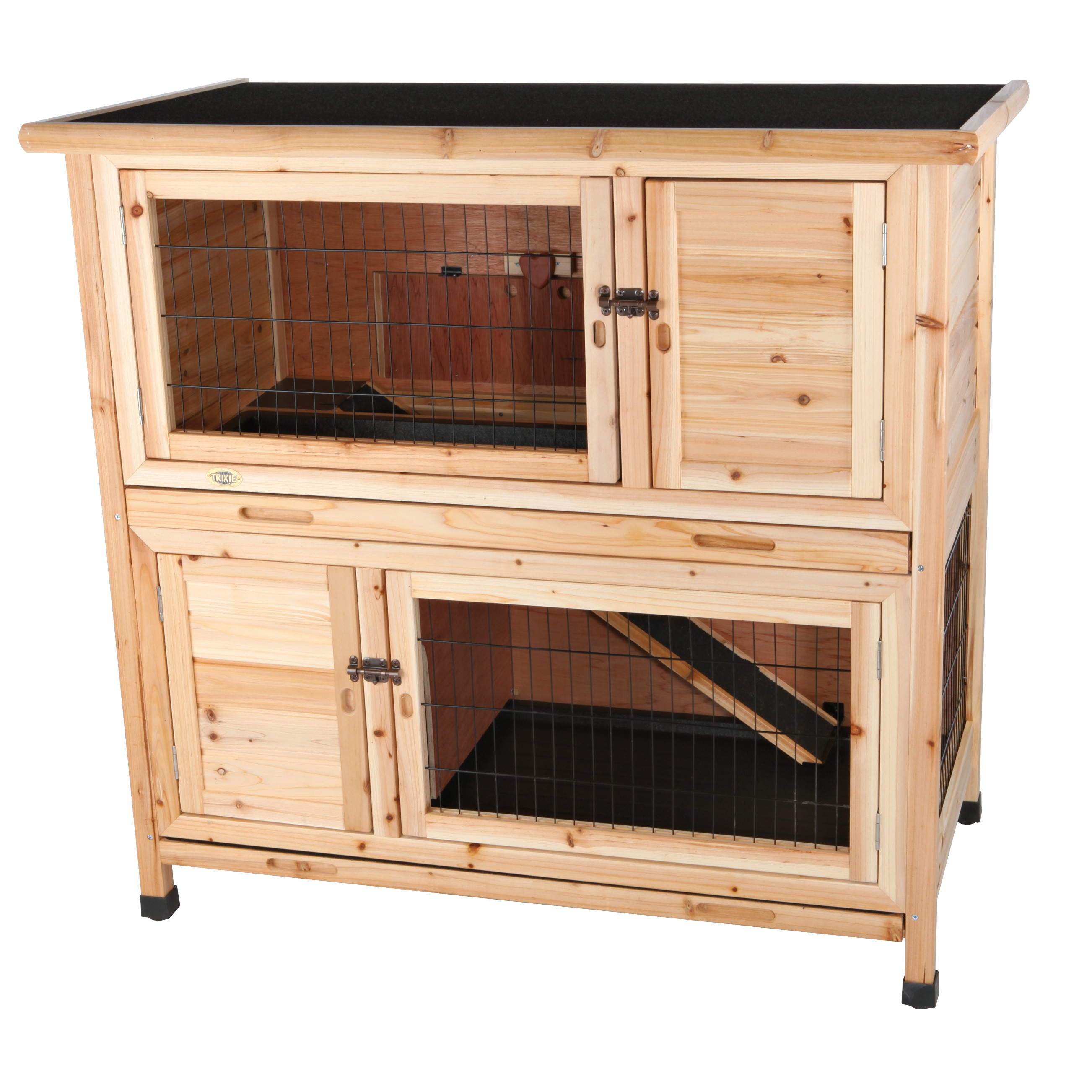 Trixie Pet 2-Story Rabbit Hutch (M) (Brown)