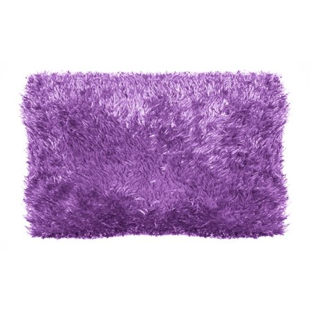 Your Zone Purple Star Dust Fur Pillow 2 Walmart Com