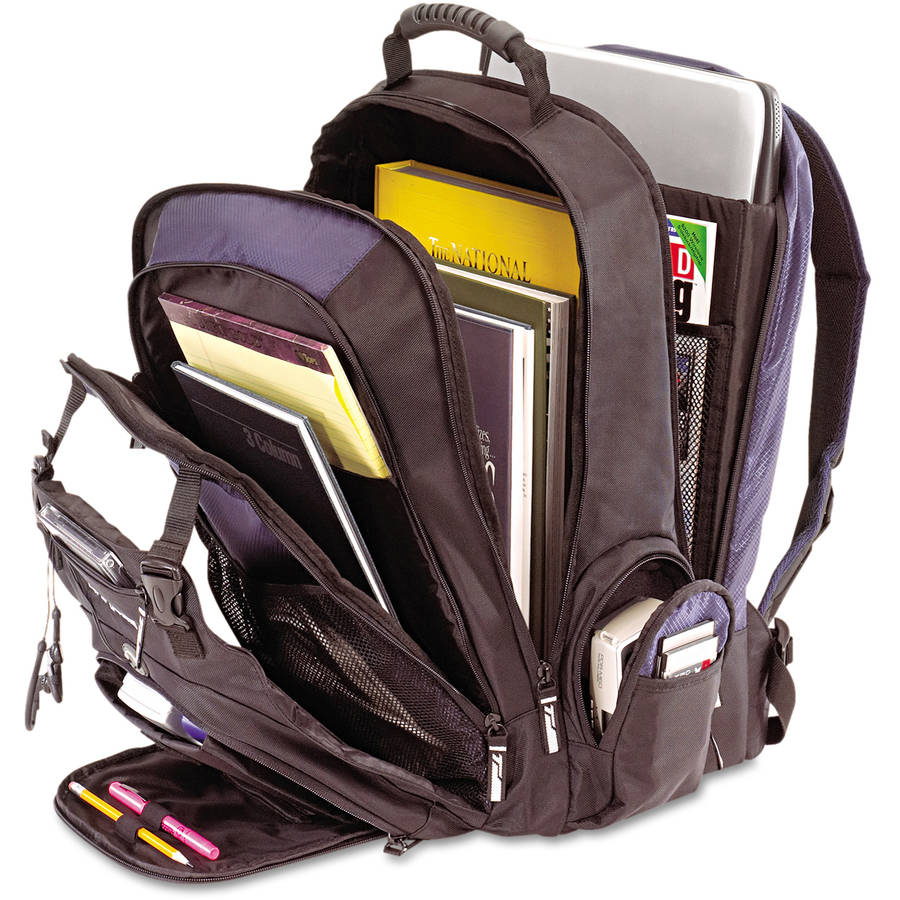 "Targus XL Laptop Backpack 17"", Black/Blue - Walmart.com"