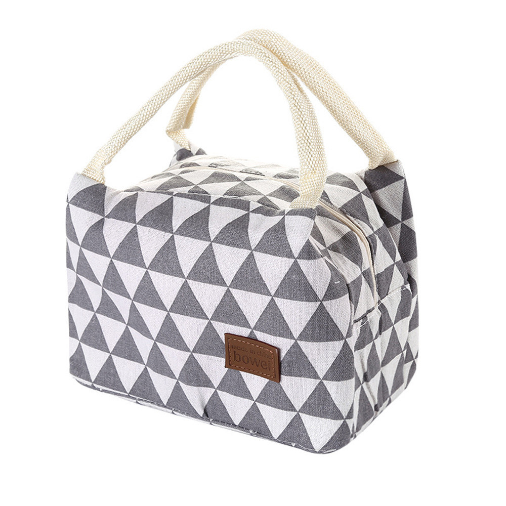 Tuscom Thermal Insulated Lunch Box Tote Cooler Bag Bento Pouch Lunch Container