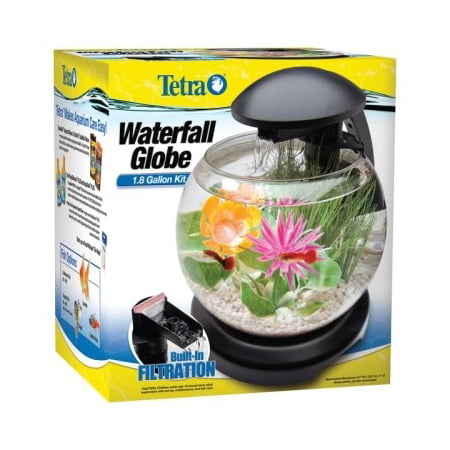 Tetra 1.8-Gallon Waterfall Globe Fish Tank