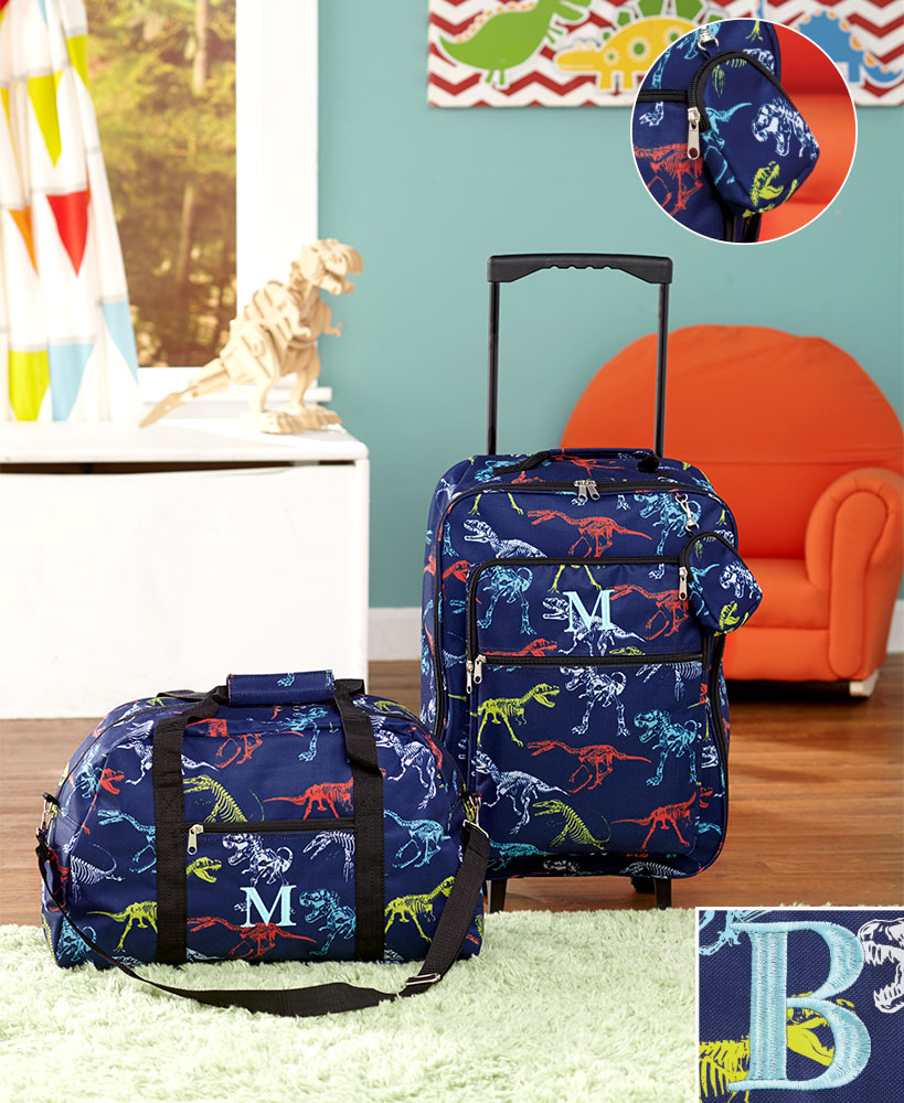 3-Pc. Boys' Monogram Luggage Set B