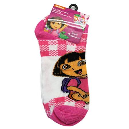 Explorer Suit (Dora the Explorer Sitting Cross Legged Pink/White Socks (1 Pair, Size)