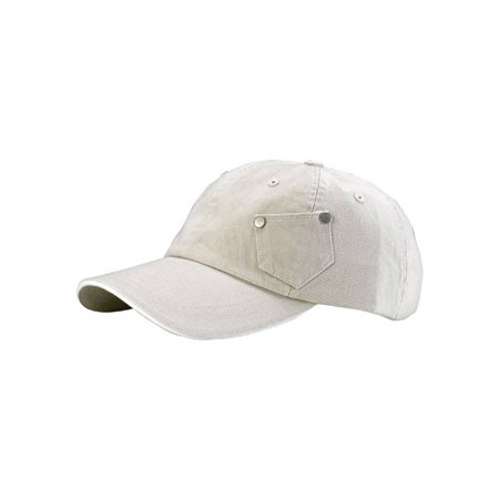 6 PANEL COTTON TWILL WASHED CAP
