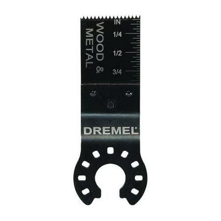 Dremel MM422 Multi-Max 3/4 inch Flush Cut Oscillating Tool Blade for Wood, Metal, Plastic, and (Flush Cut Blade Adapter)