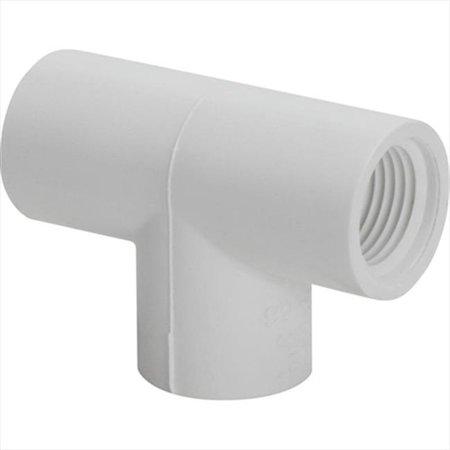 - TekSupply WF1330 Schedule 40 PVC F x F x F Tee 0.75 in x 0.75 in x 0.75 in