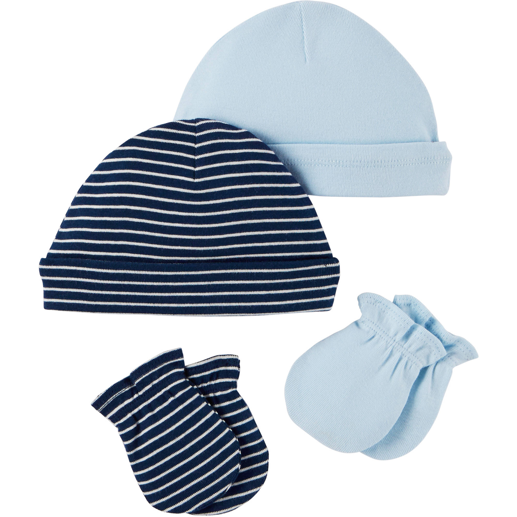 Child Of Mine by Carter's Newborn Baby Boy Mitten and Cap 4-Piece Set