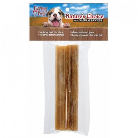 Loving Pets Natures Choice 100 Natural Rawhide Pressed Sticks - 2 Pack