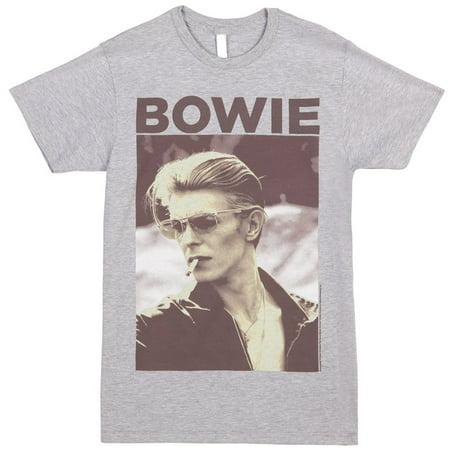 David Bowie - Smoking Photo Adult T-Shirt