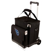 Picnic Time Cellar with Trolley, Black Tennessee Titans Digital Print