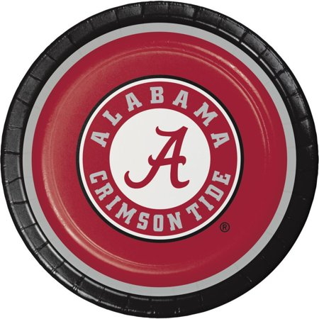 Creative Converting University Of Alabama Paper Plates, 8 ct - University Of Alabama Party Supplies