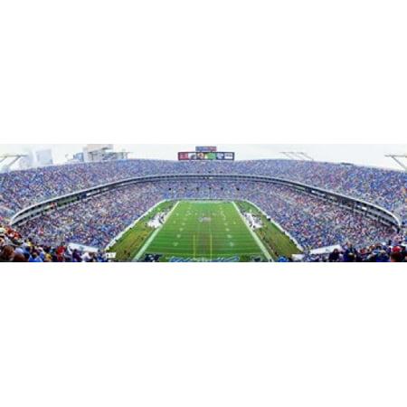 NFL Football Ericsson Stadium Charlotte North Carolina USA Canvas Art - Panoramic Images (15 x