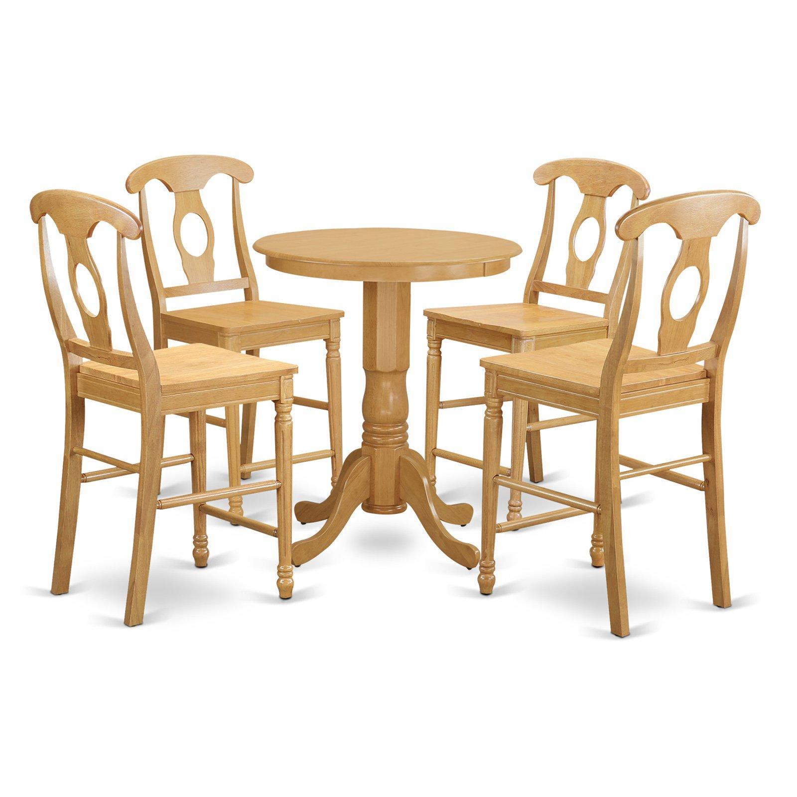 East West Furniture Eden 5 Piece Keyhole Dining Table Set