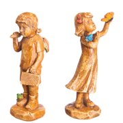 Polystone Seeds of Faith Children Mini Garden Statuary, Set of 2