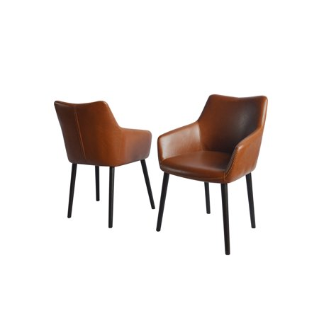 Best Quality Furniture Faux Leather Side Chair (Set of 2) Multiple