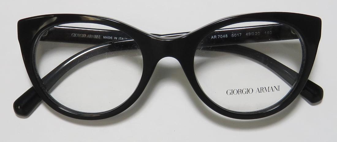 a2114ba981 New Giorgio Armani 7048 Womens Ladies Cat Eye Full-Rim Black Cat Eyes Italy  Made Frame Demo Lenses 49-20-140 Eyeglasses Glasses - Walmart.com