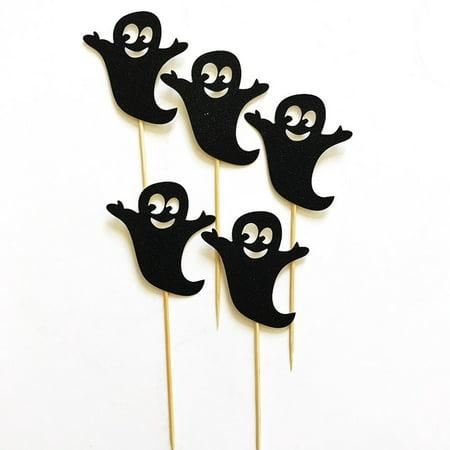 5pcs Halloween Vampire Cake Toppers Halloween Cupcakes Flags