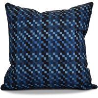 "Simply Daisy 16"" x 16"" Mad for Plaid Geometric Print Outdoor Pillow"