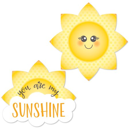 You Are My Sunshine - DIY Shaped Baby Shower or Birthday Party Cut-Outs - 24 Count (You Are My Sunshine Baby Shower Decorations)