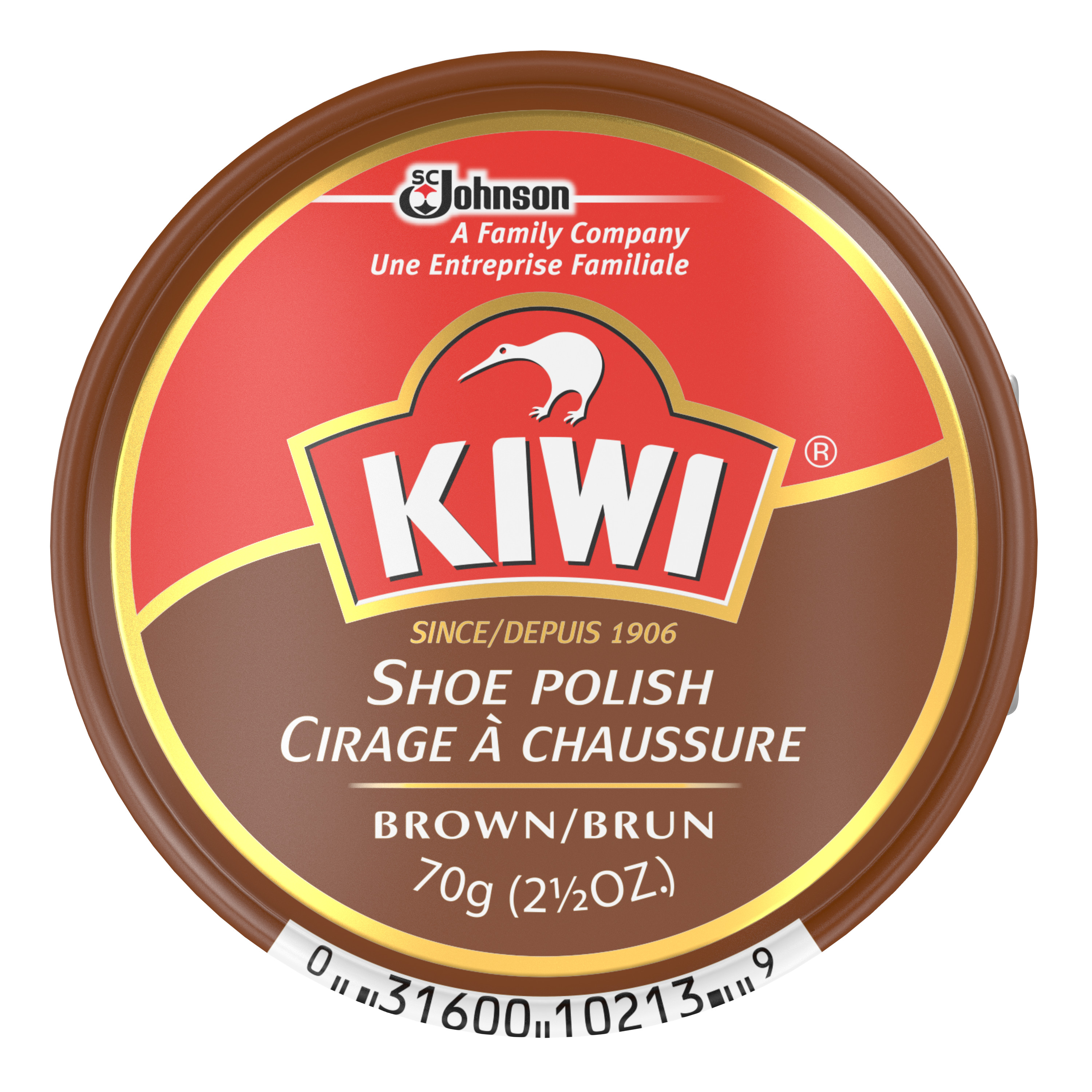 KIWI Polish Paste Brown Giant 2.5 Ounces